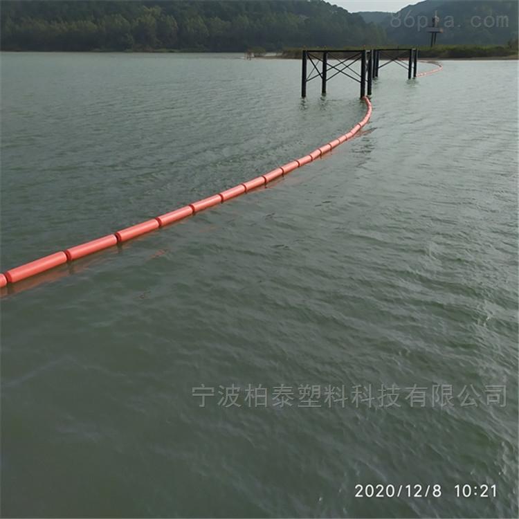 挂网式拦污浮筒 水浮莲拦截浮筒 柏泰浮标