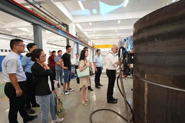 德國漢斯賽德爾基金會代表團參觀博清科技安徽省工藝驗證中心